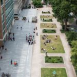 Ariel view of university campus