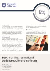 2019 – Benchmarking and International Student Recruitment – University of Dundee