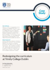 2019 – Redesigning the Curriculum – Trinity College Dublin